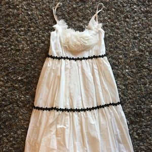 A'reve White Tiered Dress Anthropologie Sz S